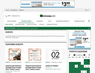 calendar.mississauga.com screenshot