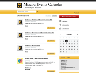 calendar.missouri.edu screenshot