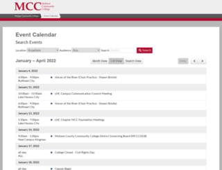 calendar.mohave.edu screenshot