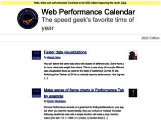 calendar.perfplanet.com screenshot