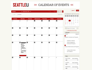 calendar.seattleu.edu screenshot