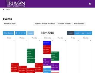calendar.truman.edu screenshot