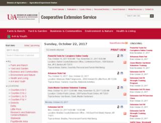 calendar.uaex.edu screenshot