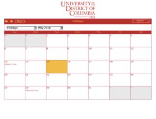 calendar.udc.edu screenshot