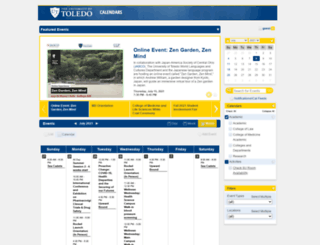 calendar.utoledo.edu screenshot