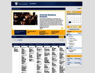 calendar.utoledo.edu screenshot