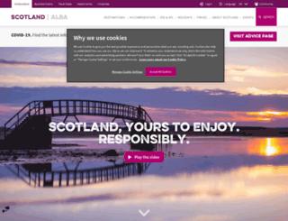 calendar.visitscotland.com screenshot