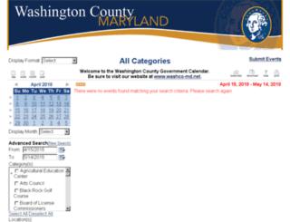 calendar.washco-md.net screenshot