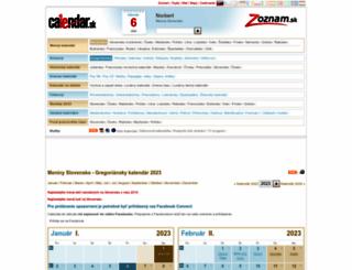 calendar.zoznam.sk screenshot