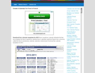 calendarfor.blogdns.com screenshot