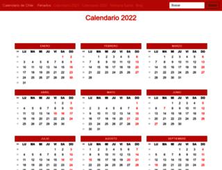calendariochile.com screenshot