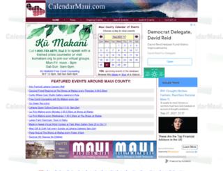 calendarmaui.com screenshot