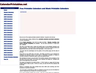 calendarprintables.net screenshot