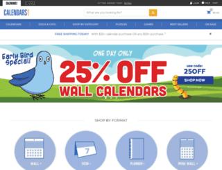 calendars.com screenshot