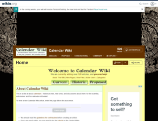 calendars.wikia.com screenshot
