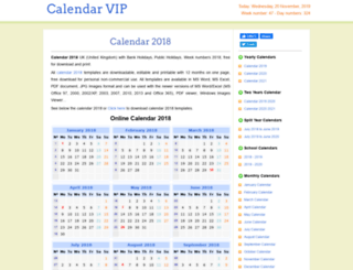 calendarvip.co.uk screenshot