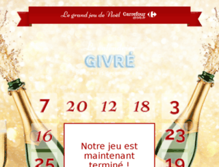 calendrier-carrefourdrive.com screenshot