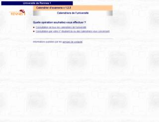 calendrier-examens.univ-rennes1.fr screenshot