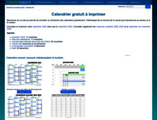 calendriergratuit.fr screenshot