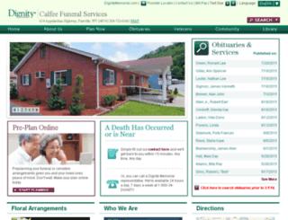 calfeefuneralservice.com screenshot