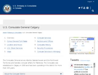 calgary.usconsulate.gov screenshot