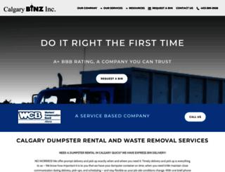 calgarybinz.com screenshot