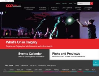 calgaryculture.com screenshot