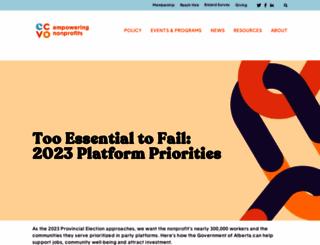 calgarycvo.org screenshot