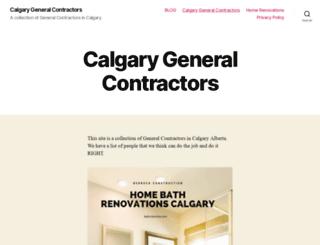 calgarygeneralcontractors.ca screenshot