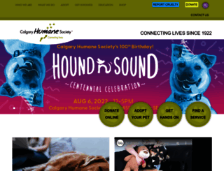 calgaryhumane.ca screenshot