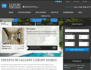 calgaryluxuryportfolio.ca screenshot