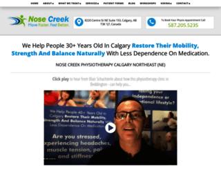 calgaryphysicaltherapy.com screenshot