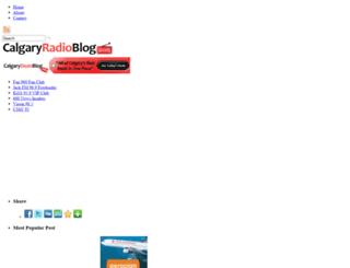 calgaryradioblog.com screenshot