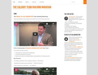 calgaryteambuildingmagician.com screenshot