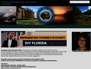 calhounclerk.com screenshot