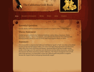 califgoldrush.weebly.com screenshot