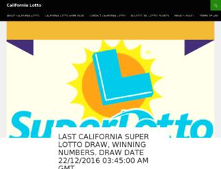 california-lotto.net screenshot