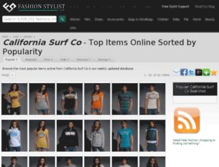 california-surf-co.fashionstylist.com screenshot