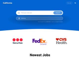 california.jobing.com screenshot