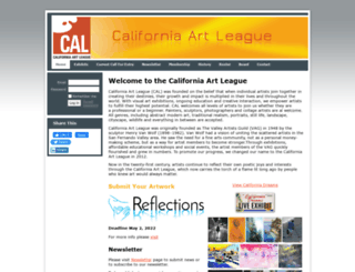 californiaartleague.wildapricot.org screenshot