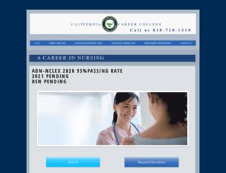 californiacareercollege.edu screenshot