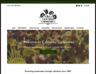 californiacarnivores.com screenshot