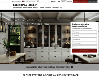californiaclosets.com screenshot