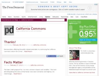 californiacommons.blogs.pressdemocrat.com screenshot
