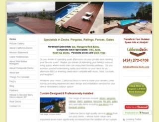 californiadeck.com screenshot