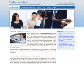 californialemonlaw-lawyers.com screenshot