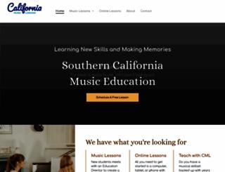 californiamusicstudios.com screenshot