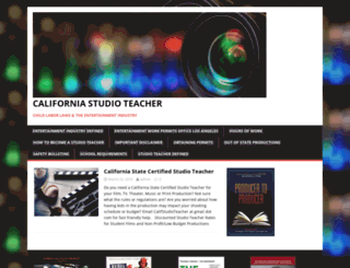 californiastudioteacher.com screenshot