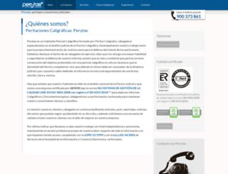 caligraficas.perytas.com screenshot