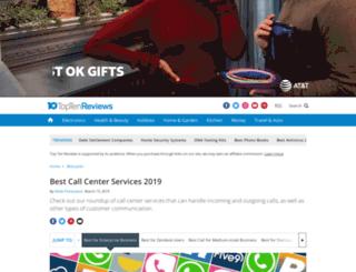 call-center-services-review.toptenreviews.com screenshot